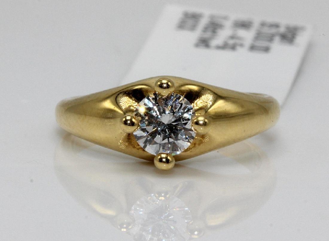 Bvlgari 18Kt YG & 0.46ct. Diamond Ring