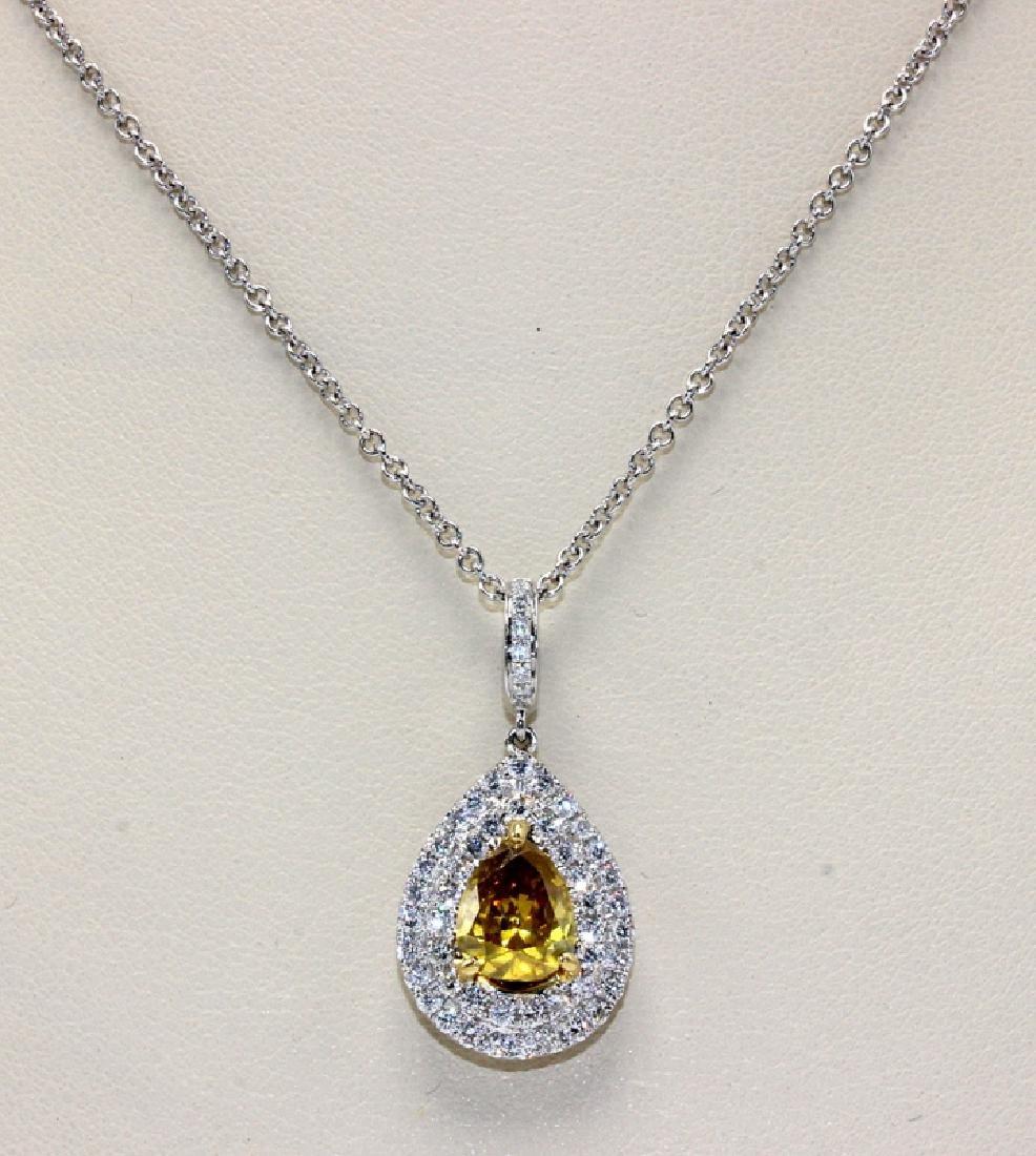 18Kt WG & 1.88ct. Diamond Pendant Necklace
