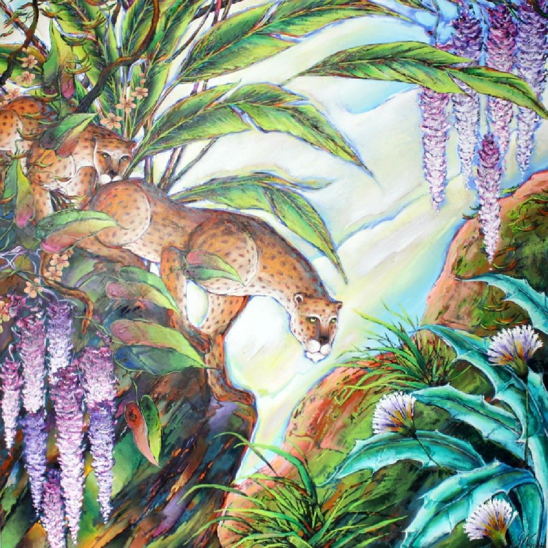 "Gustavo Novoa ""Leopard"" Acrylic on Canvas"
