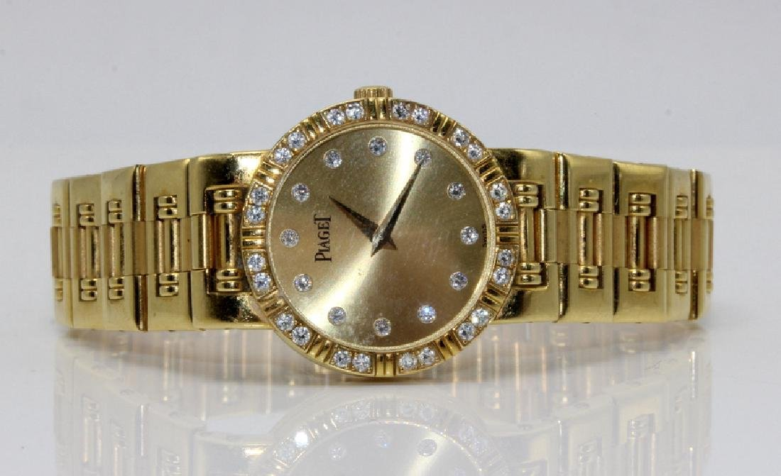 Piaget 18Kt YG & Diamond Watch