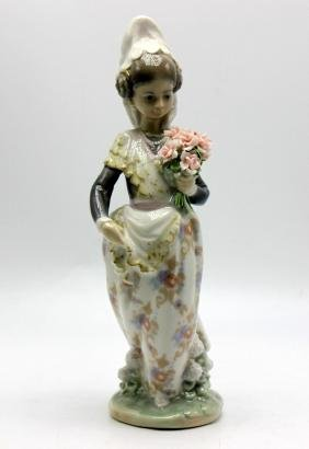 "Lladro ""Spanish Girl"" Porcelain Figure"