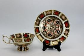 "Royal Crown Derby ""Old Imari"" (6) Tea Cups & Saucers"