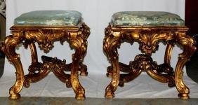 Pair of William Switzer Giltwood Italian Rococo Style