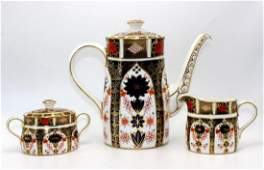"""Royal Crown Derby """"Old Imari"""" Coffee Set to include a"""