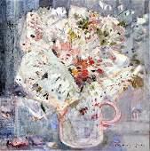 Federica Ravizza (Italian, b.1947) Depicting a Vase of