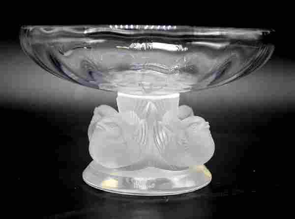 """Lalique Crystal """"Nogent"""" Bowl"""