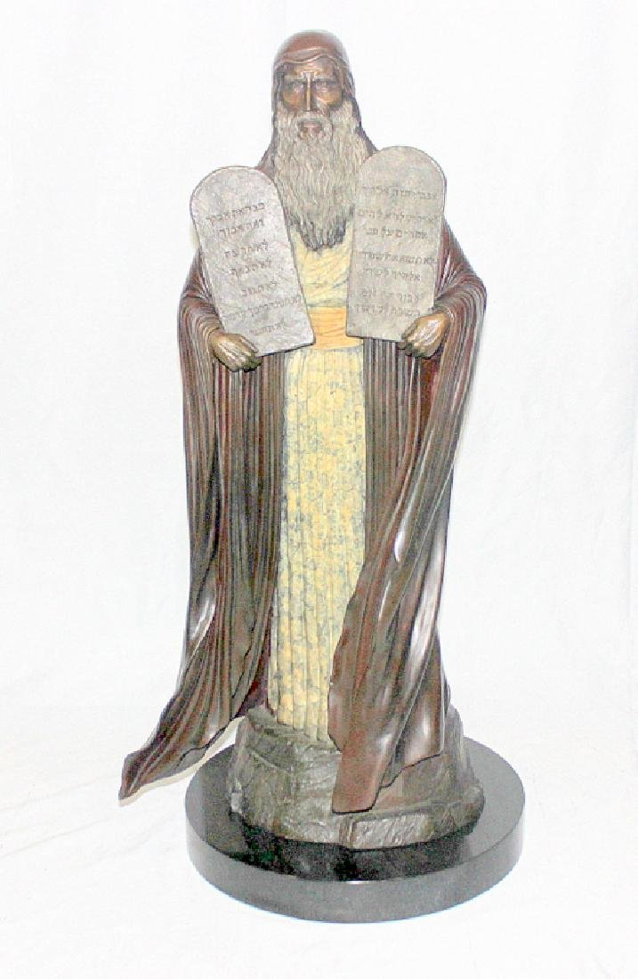 Dean Shipston (b.1964-) Bronze Statue of Moses with the