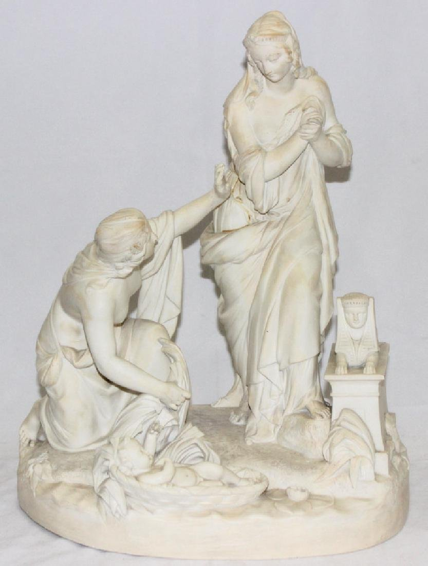 Parian Finding of Moses Porcelain Group
