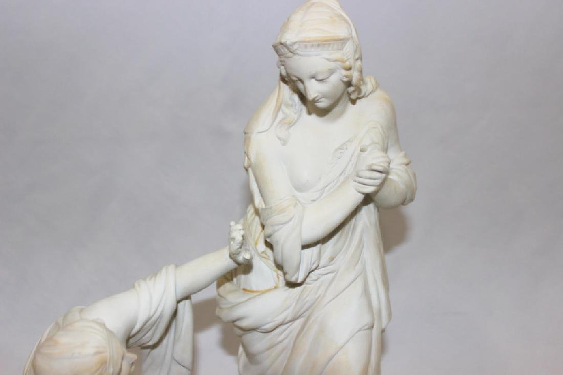 Parian Finding of Moses Porcelain Group - 4