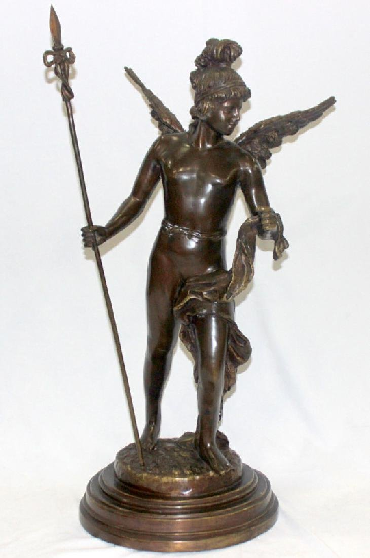 Signed J. Daste Bronze of an Angel