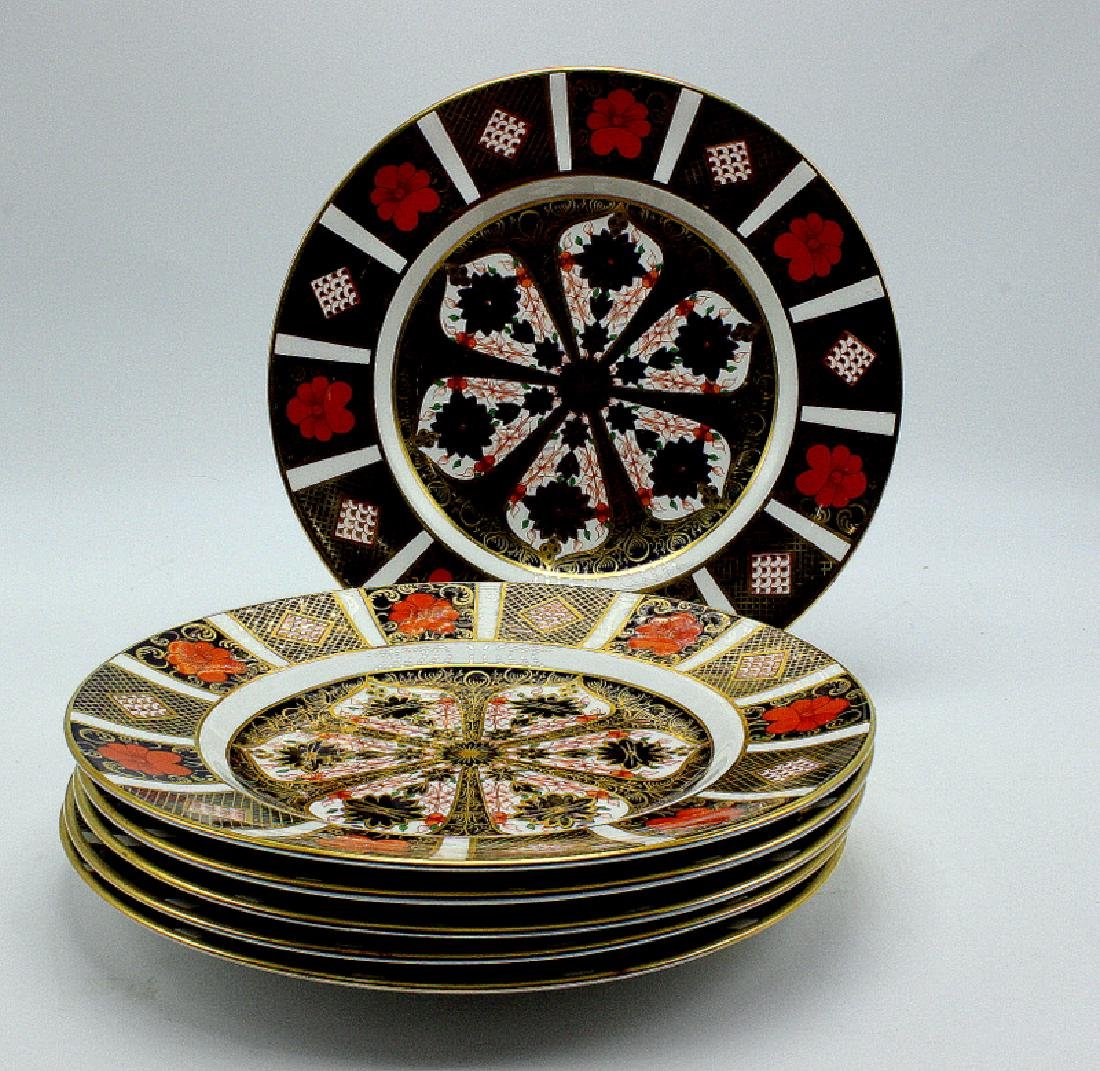"Royal Crown Derby ""Old Imari"" (6) Salad Plates - 2"