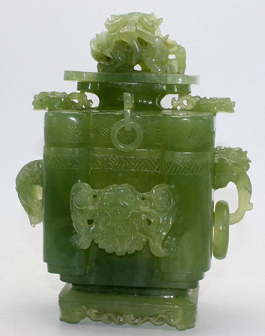 Chinese Jade Covered Incense Burner