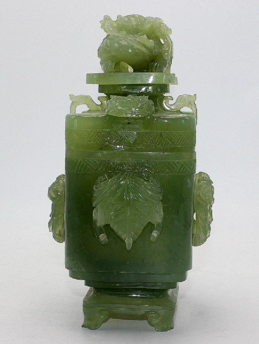 Chinese Jade Covered Incense Burner - 3