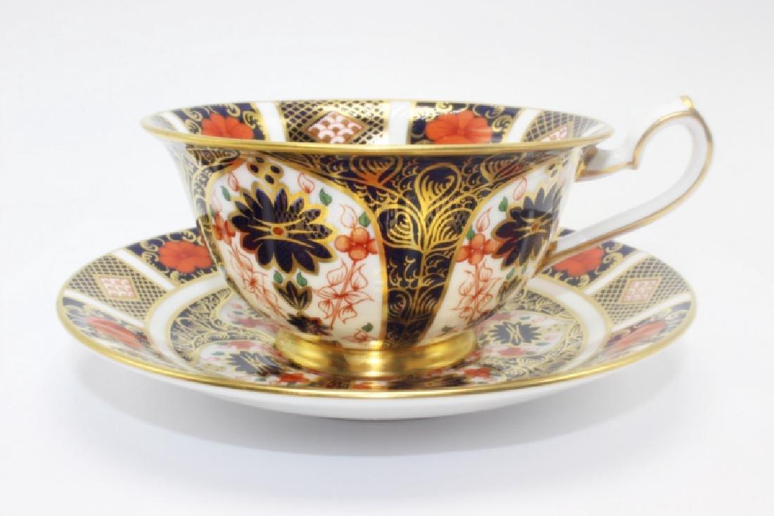 "Royal Crown Derby ""Old Imari"" (4) Cups & Saucers"