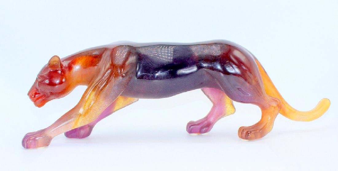 Daum Pate de Verre Limited Edition Crystal Panther - 2