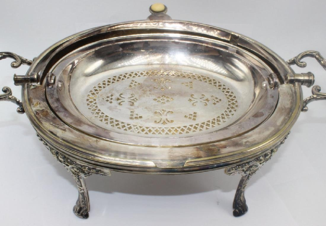 Sheffield Silver Plate Revolving Hand Chased Covered - 2