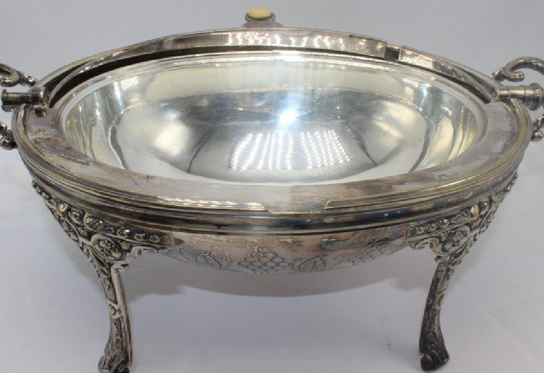 Sheffield Silver Plate Revolving Hand Chased Covered - 3