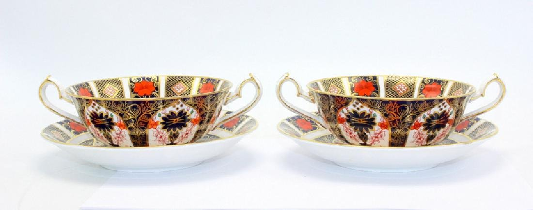 """Royal Crown Derby """"Old Imari"""" (6) Double Handled Soup"""