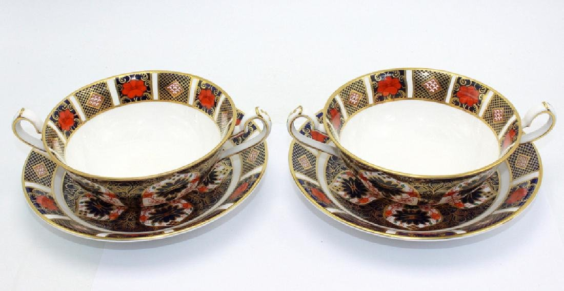 """Royal Crown Derby """"Old Imari"""" (6) Double Handled Soup - 2"""