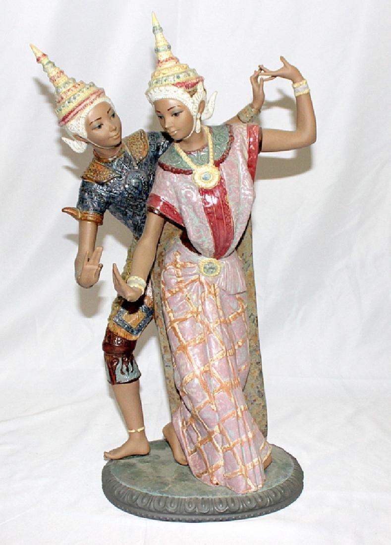 """Lladro Figurine # 12058 """"Thai Couple"""""""