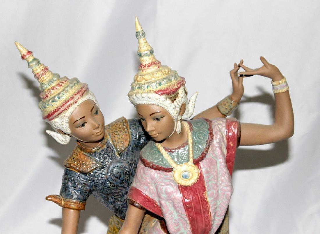 """Lladro Figurine # 12058 """"Thai Couple"""" - 2"""