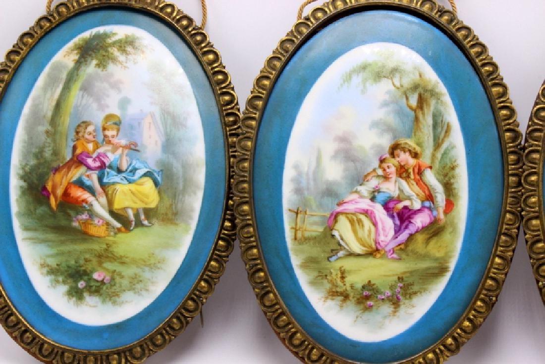 Sevres Style (3) Framed Porcelain Plaques - 2
