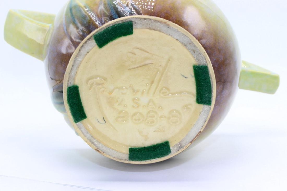 Roseville Pottery Handled Basket - 3