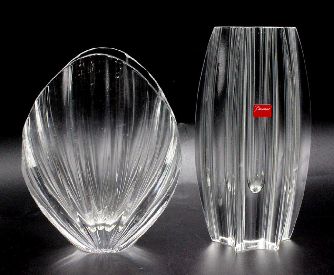 Baccarat (2) Glass Vases
