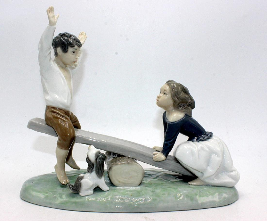 "Retired Lladro #4867 ""See-Saw"""