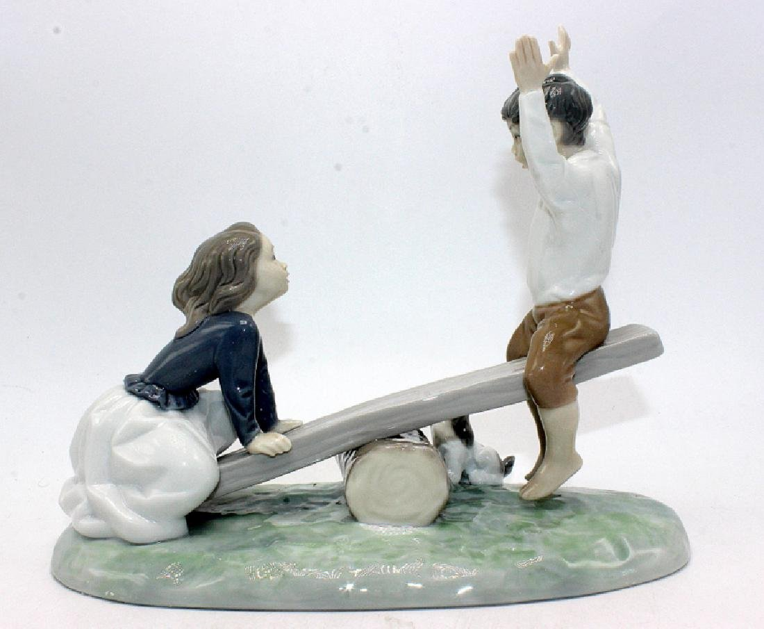 "Retired Lladro #4867 ""See-Saw"" - 2"
