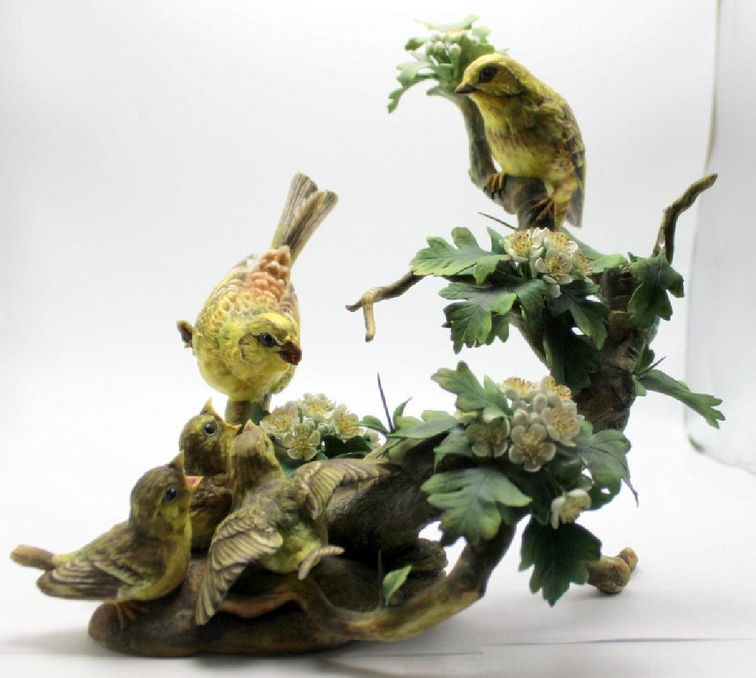 Boehm Porcelain Figural Group Feeding Time