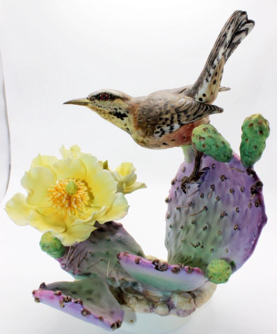 Boehm Cactus Wren & Prickly Pear #1