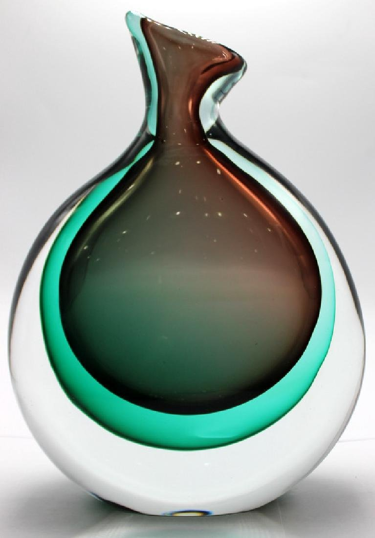 Large Murano Wave Glass Vase