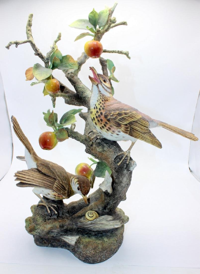 Boehm Birds on Apple Tree Branch