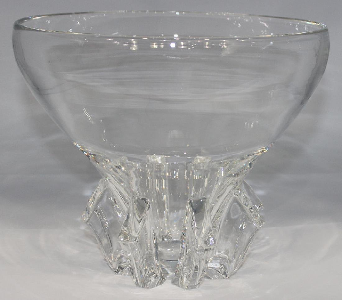 Steuben Clear Glass Bowl Signed