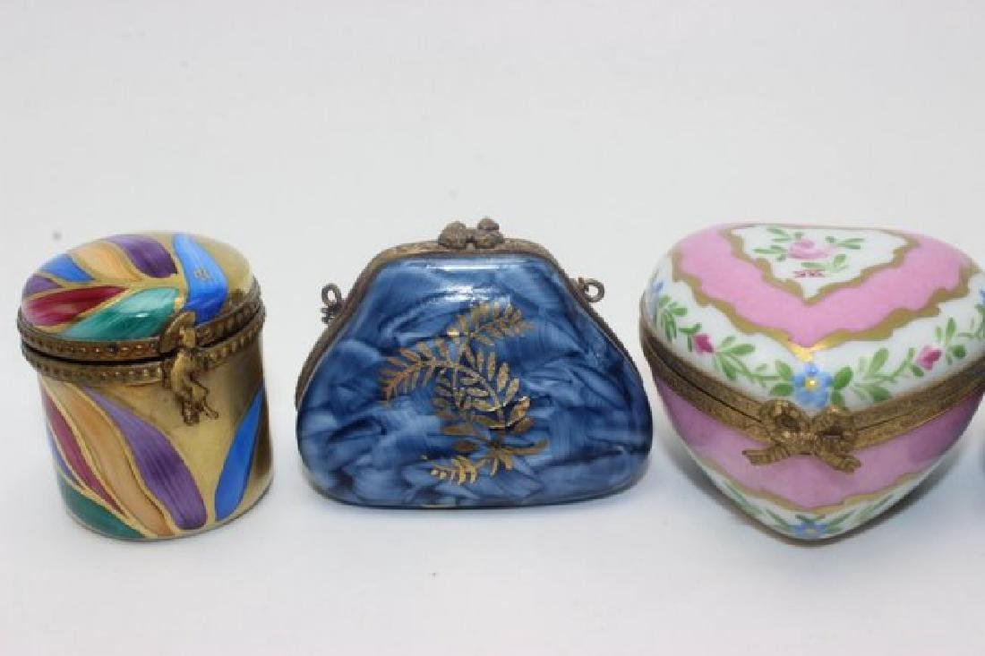 Limoges (4) Hand Painted Pill Boxes - 2