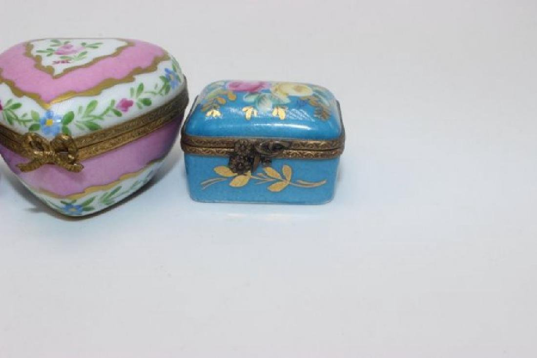 Limoges (4) Hand Painted Pill Boxes - 4