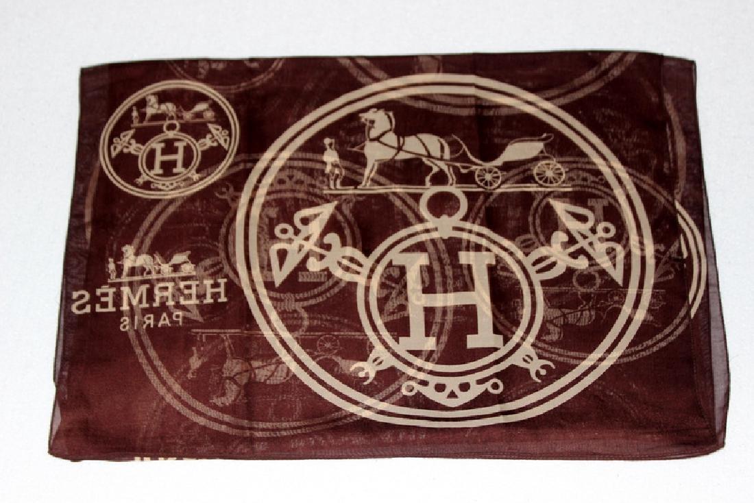 Hermes Paris 100% Silk Bandana Scarf