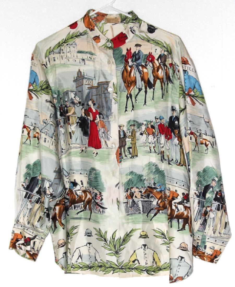 Hermes Paris 100% Silk Blouse
