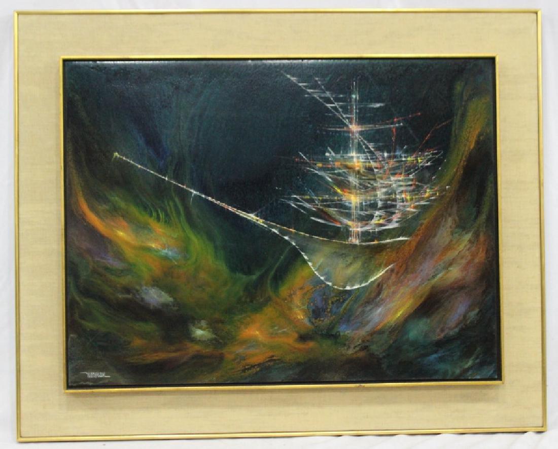 Leonardo Nierman Oil on Panel