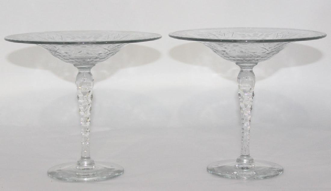 Webb Crystal Etched Compotes