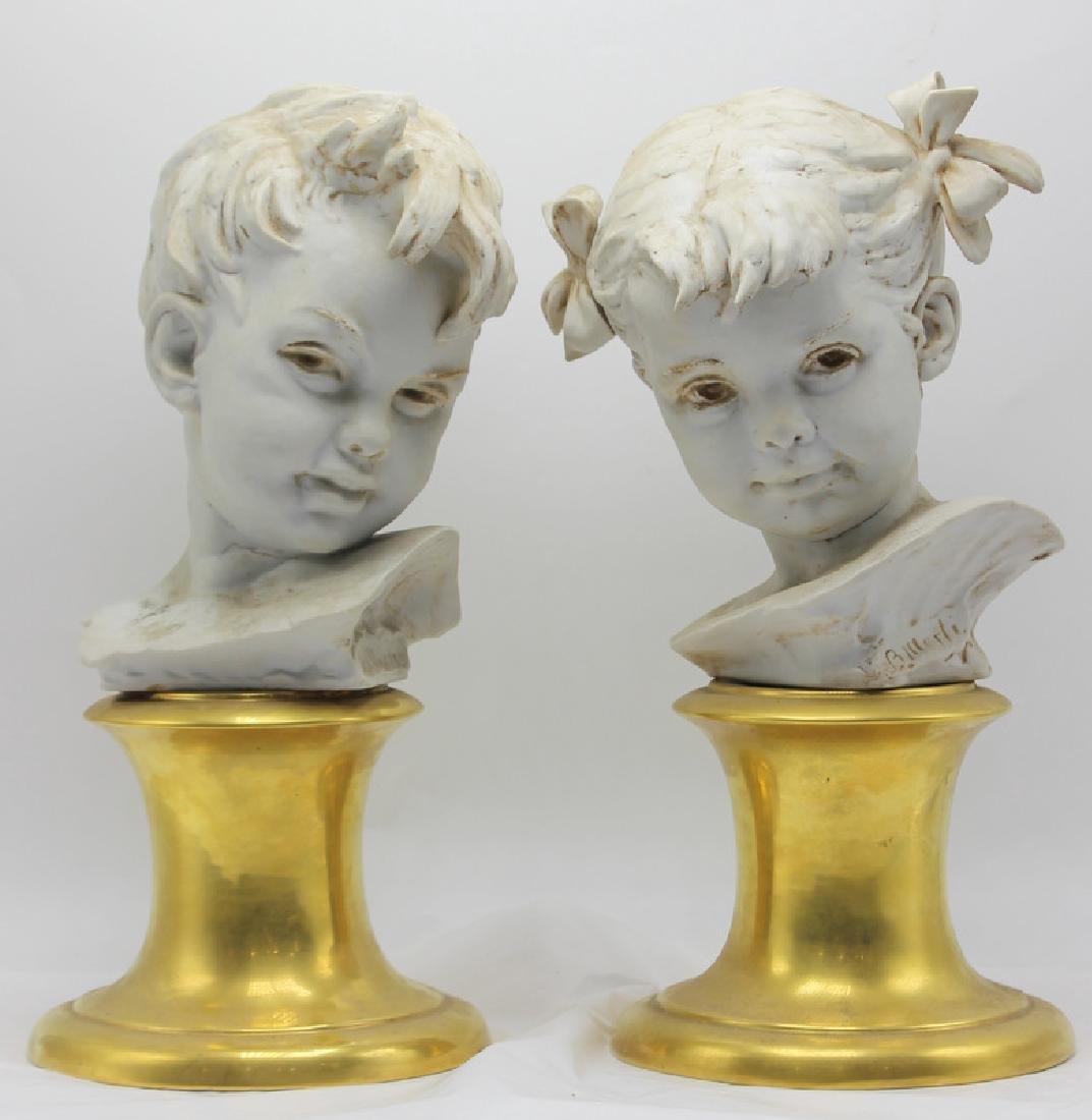 Italian Porcelain Busts