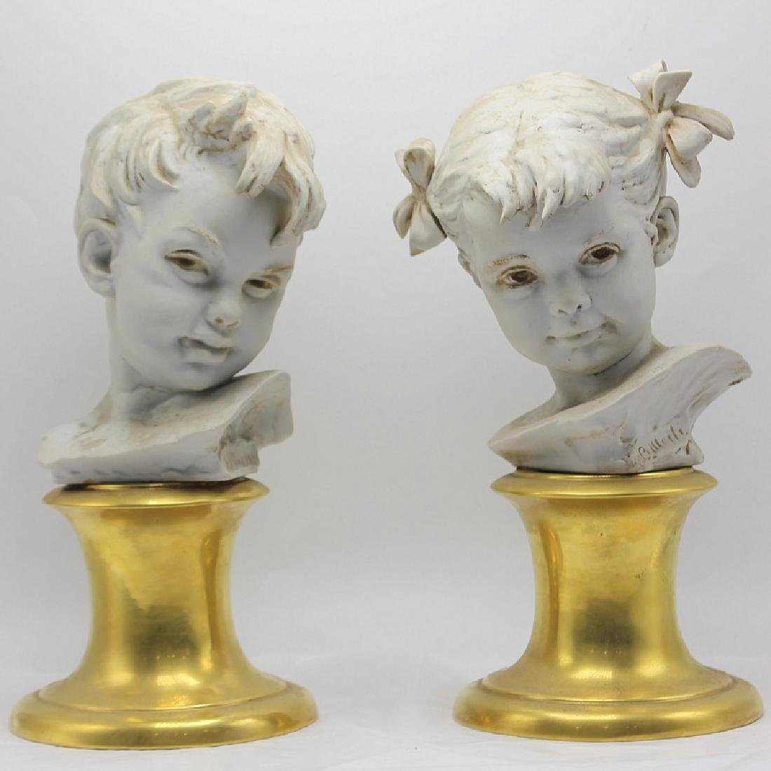 Italian Porcelain Busts - 2