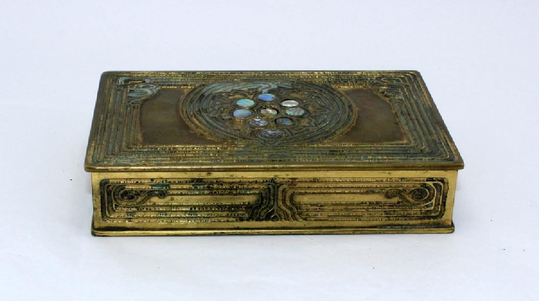 Tiffany Studios Abalone Pattern Bronze Desk