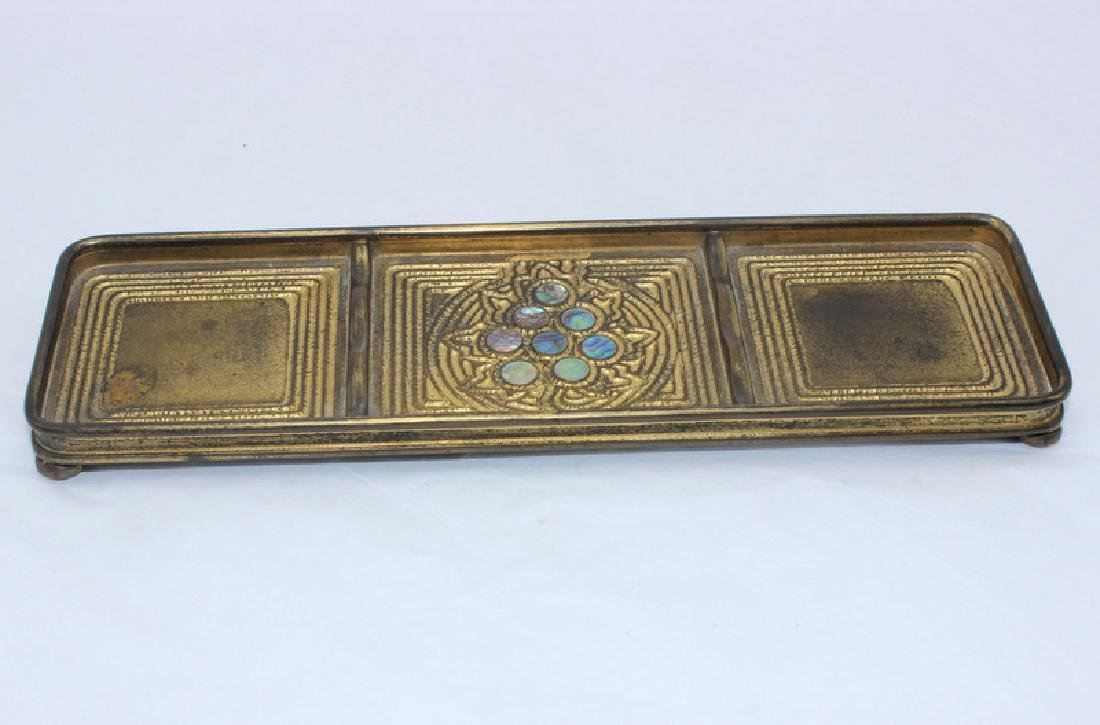 Tiffany Studios Pen Tray in the Abalone Pattern