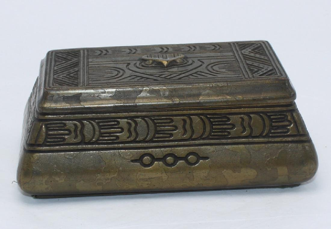 Tiffany Studios Bronze Stamp Box