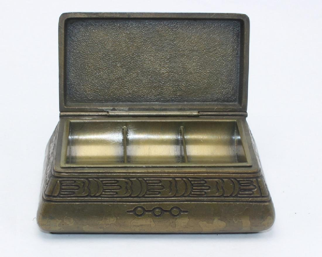 Tiffany Studios Bronze Stamp Box - 2