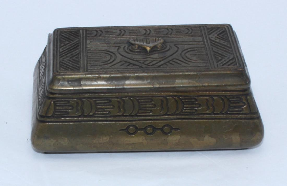 Tiffany Studios Bronze Stamp Box - 3
