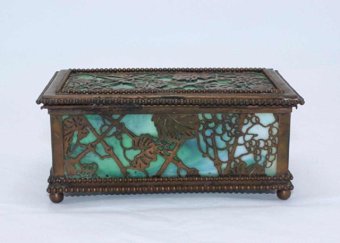 Tiffany Studios Grapevine Hinged Box