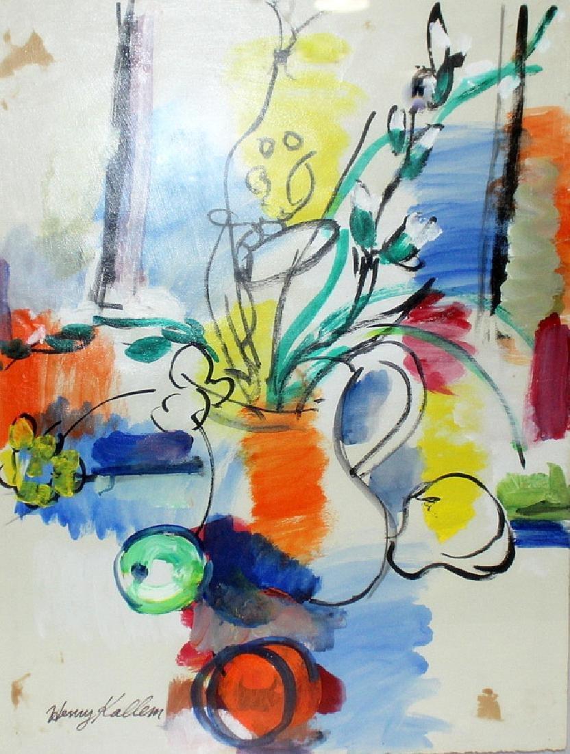 Henry Kallem (American, b.1912-1985) Oil on Canvas